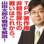何をすべきなのか!?TPPの締結後の著作権の非親告罪【第52回山田太郎ボイス】