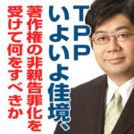 TPPいよいよ佳境、著作権の非親告罪化を受けて何をすべきか(8/5)