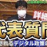 参議院本会議にてデジタル関連法案について質疑